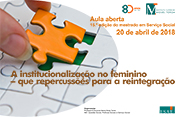 Aula Aberta – A institucionalização no feminino – que repercussões para a reintegração